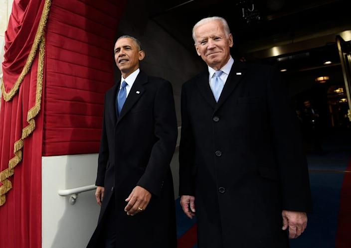 President Barack Obama and Vice President Joe Biden on Jan. 20, 2017, in Washington, D.C.