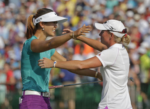 Michelle Wie, Stacy Lewis: friends linked by golf
