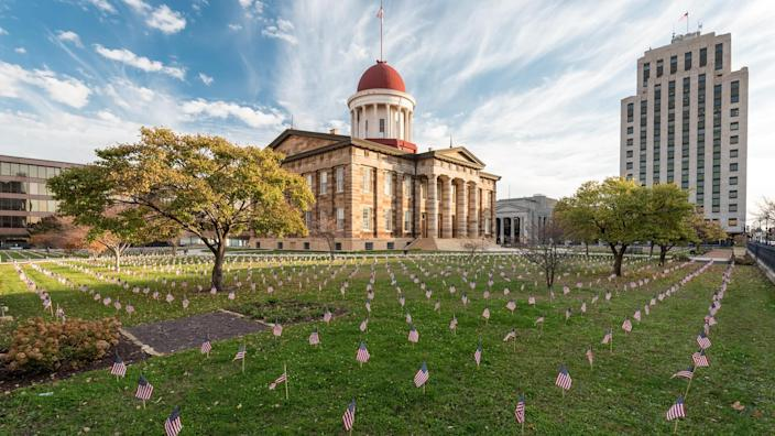 Old State Capitol in Springfield, Illinois - Image.
