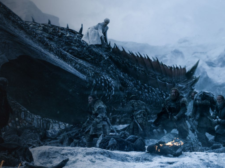 The finale centres around a battle with the army of the dead, which now features one of Daenerys dragons. Source: HBO