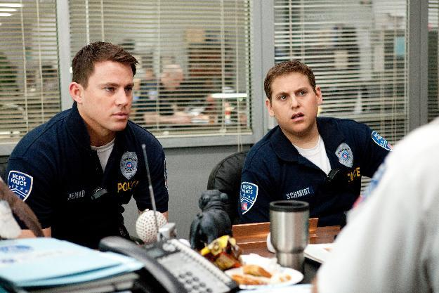 "In this image released by Columbia Pictures, Channing Tatum, left, and Jonah Hill are shown in a scene from the film ""21 Jump Street."" The film will premiere as the centerpiece of Austin's South by Southwest Film Conference and Festival. It will screen March 12 at SXSW, which runs March 9-17. (AP Photo/Columbia Pictures/Sony, Scott Garfield)"