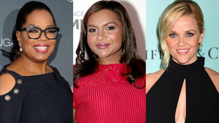 Oprah Winfrey, Mindy Kaling, and Reese Witherspoon (Photo: Getty Images)