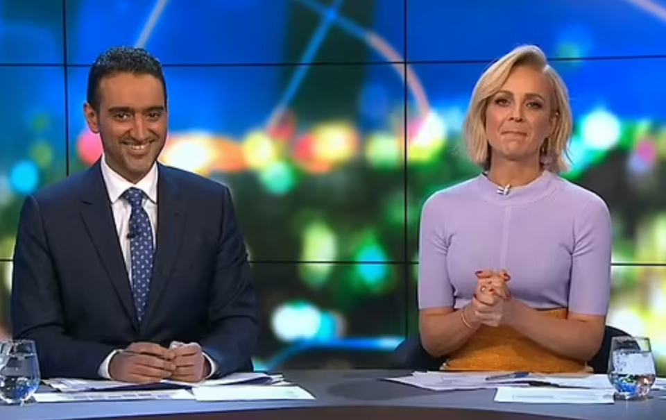 Carrie Bickmore and waleed on the project