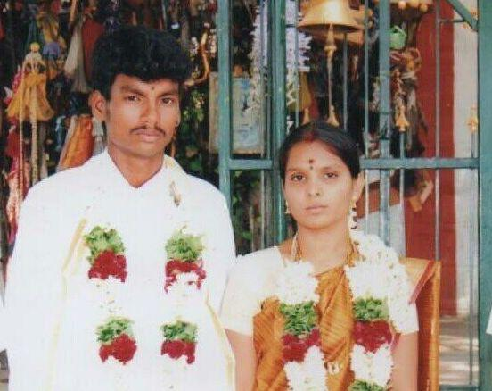 Shankar and Kausalya in a photo from their wedding.