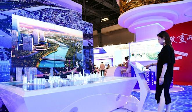 The China International Fair for Trade in Services is expected to draw more than 100,000 people over the next few days. Photo: Xinhua