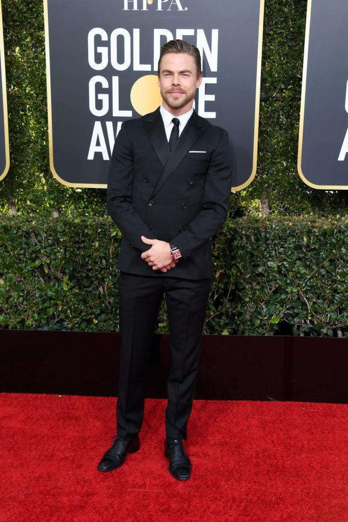 <p>Derek Hough attends the 76th Annual Golden Globe Awards at the Beverly Hilton Hotel in Beverly Hills, Calif., on Jan. 6, 2019. (Photo: Getty Images) </p>