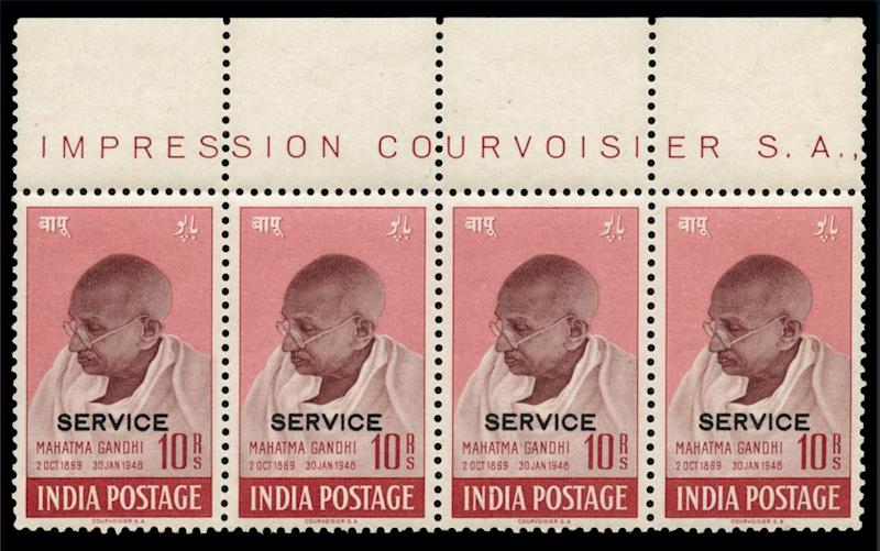 Mahatma Gandhi Stamps Sold At 500,000 Pounds In UK Auction