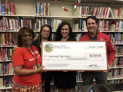 Sweetwater High School Awarded 5000 Barona Education Grant For