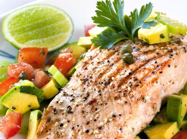 """<b>Wild salmon</b> <br>Not only do fish fats keep your heart healthy, but they shrink your waist, too. """"Omega-3 fatty acids improve insulin sensitivity—which helps build muscle and decrease belly fat,"""" Grotto explains. And the more muscle you have, the more calories your body burns. Opt for wild salmon; it may contain fewer pollutants. <br><b>Eat more</b> You don't need to do much to enhance salmon's taste, says Sidra Forman, a chef and writer in Washington, D.C. """"Simple is best. Season a fillet with salt and pepper, then cook it in a hot pan with 2 tsp oil for 1 to 3 minutes on each side."""""""