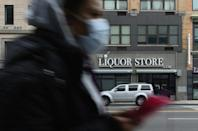 """Liquor stores are among the """"essential businesses"""" allowed to remain open as New York battles to reign in coronavirus infections"""