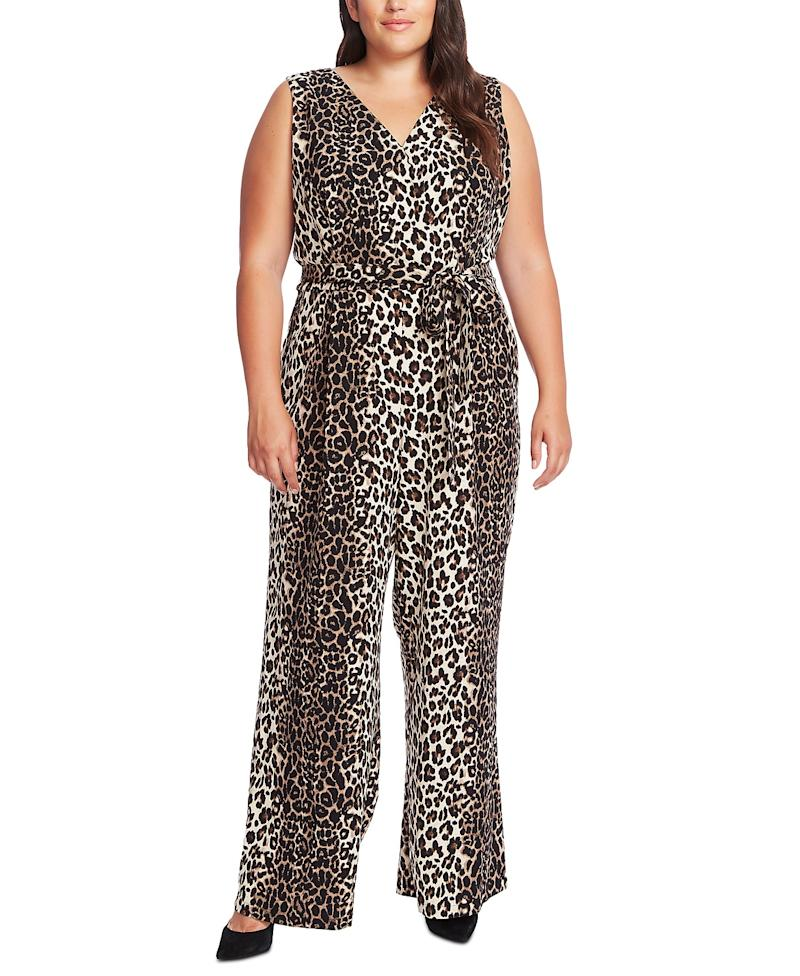 Vince Camuto Plus Size Printed Belted Wide-Leg Jumpsuit. (Photo: Macy's)