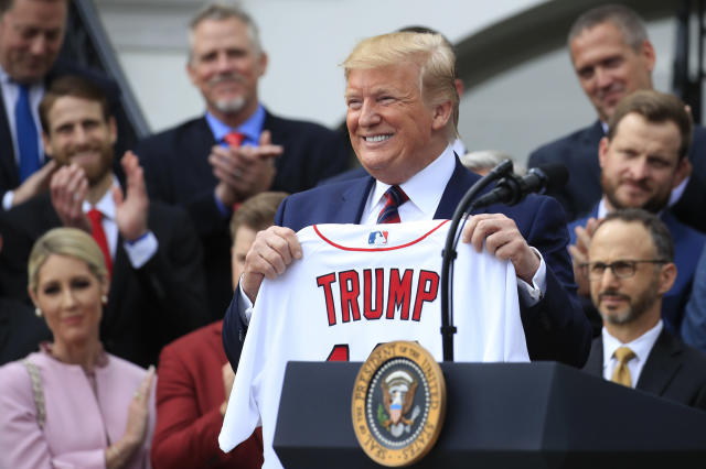 Donald Trump will be on hand for Game 5 of the World Series, but not in view. (AP Photo/Manuel Balce Ceneta)