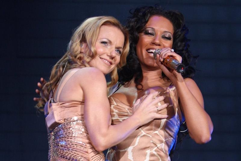 All fine: Geri B insisted the group are fine after recent claims from Mel B (Spice Girls LLP via Getty Images)