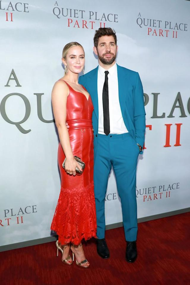 "<p><a href=""https://www.elle.com/uk/life-and-culture/culture/a29649034/john-krasinski-emily-blunt-marriage-secret/"" target=""_blank"">The couple </a>and co-stars attended the premiere for their film A Quiet Place 2 in New York City over the weekend. </p>"