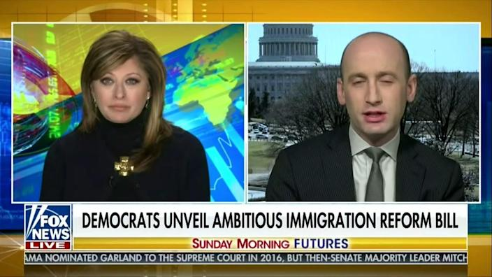 <p>Stephen Miller  was the architect of Donald Trump administration's  immigration policy</p> (screengrab/ Fox News)