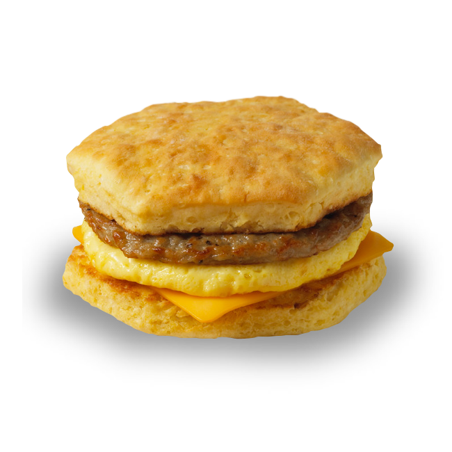 <p>Sausage, a seasoned egg omelette and processed cheddar cheese on a homestyle biscuit contains 500 calories, 33 grams of fat and 16 grams of saturated fat — nearly an entire day's worth of saturated fat in one sandwich. <br /> — Calories: 500 <br /> — Fat: 33 g (Saturated Fat 16 g) <br /> — Sodium: 1,030 mg <br /> — Carbohydrates: 33 g <br /> — Sugar: 4 g <br /> — Source/Photo: Tim Hortons </p>