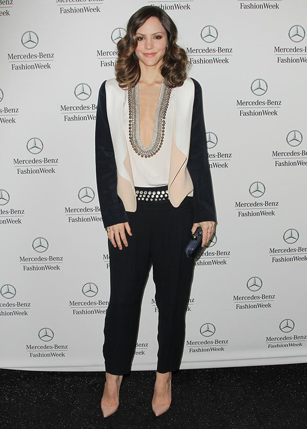 <b>Katharine McPhee at the Mercedes-Benz Fashion Week in Lincoln Center</b><br>In a word, smashing. (2/10/13)