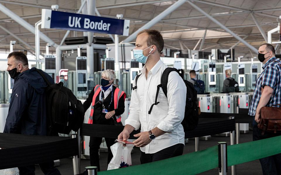 A new permit rule has been launched, adding to England's already strict testing and hotel quarantine requirements for those travelling abroad - Getty