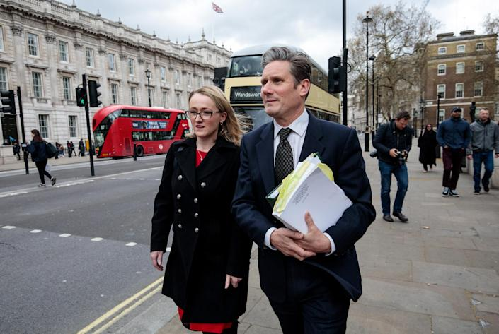 Labour's Keir Starmer and Rebecca Long-Bailey exit cross-party Brexit talks: Getty