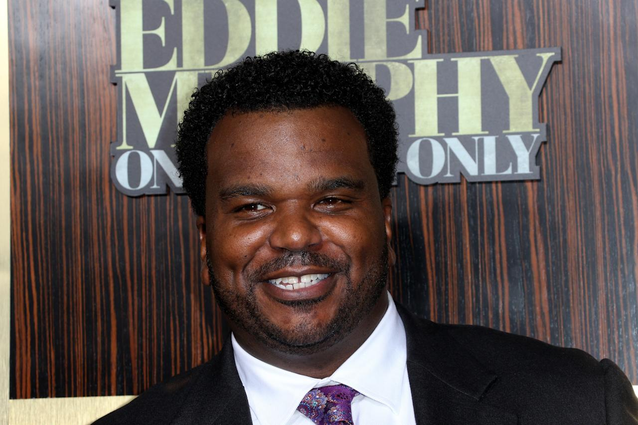 "BEVERLY HILLS, CA - NOVEMBER 03:  Actor Craig Robinson arrives at Spike TV's ""Eddie Murphy: One Night Only"" at the Saban Theatre on November 3, 2012 in Beverly Hills, California.  (Photo by Frederick M. Brown/Getty Images)"