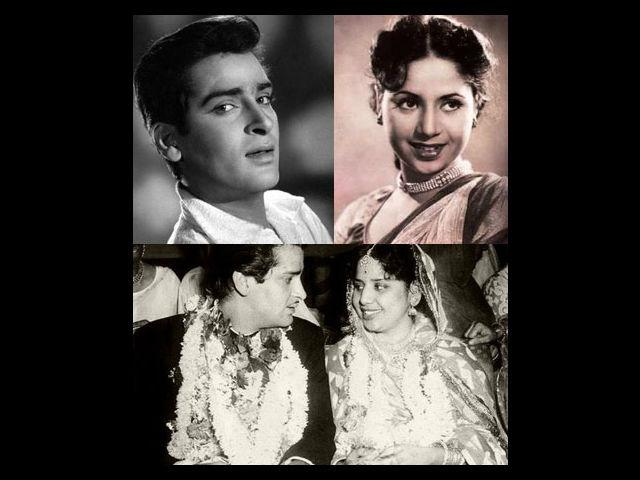 But, one rainy night in Mumbai, after relentless persuasion from Shammi's side, Geeta finally accepted his proposal in the spur of the moment. The two love-struck actors secretly got married in a temple, on 24th August 1955, barely four months after their first meeting. They had just one common friend as the sole witness to their wedding, producer-director Hari Walia. Shammi Kapoor informed his parents about their marriage on phone, and later went home to seek his grandfather's blessings.
