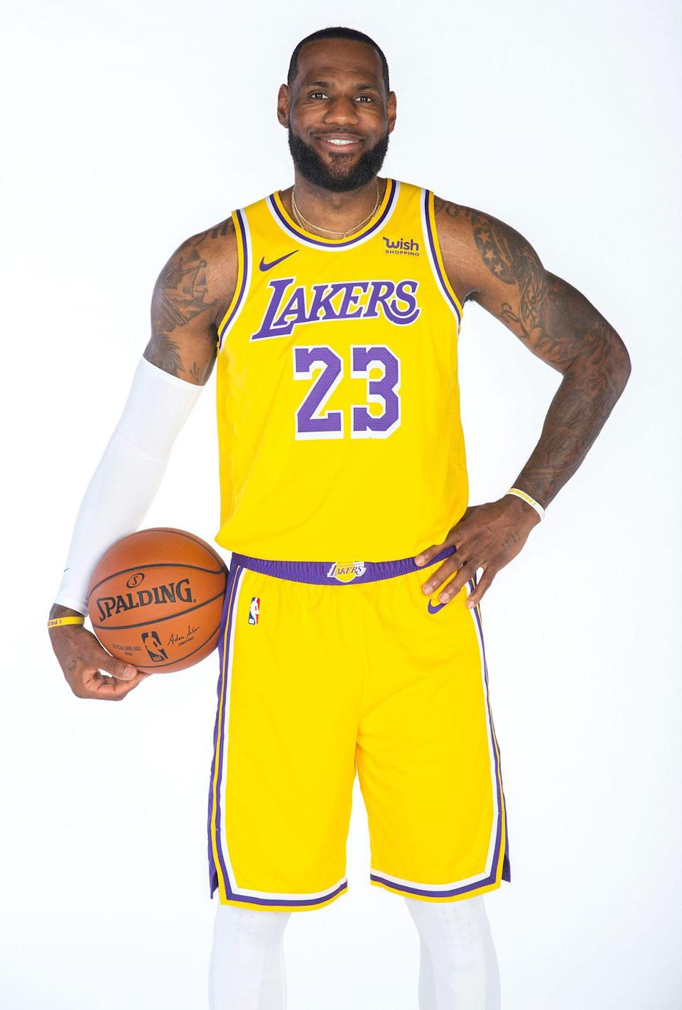 <p>James, of the Los Angeles Lakers, has been selected for the NBA All-Star Game a total of 17 times.</p>