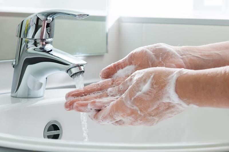 Hygiene. Cleaning Hands. Washing hands.