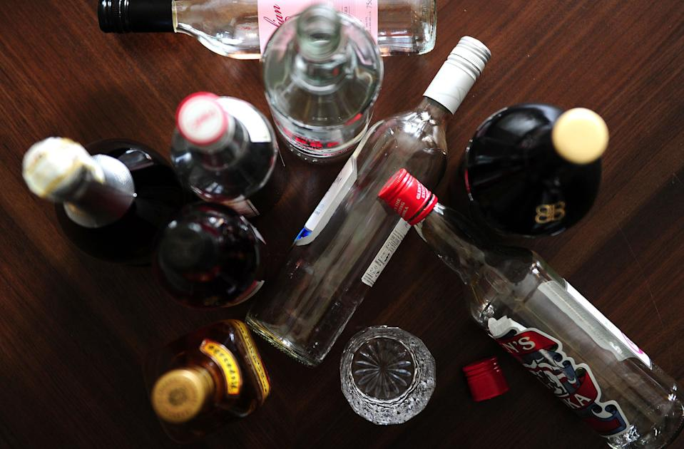 Bottles of alcohol (PA Wire)