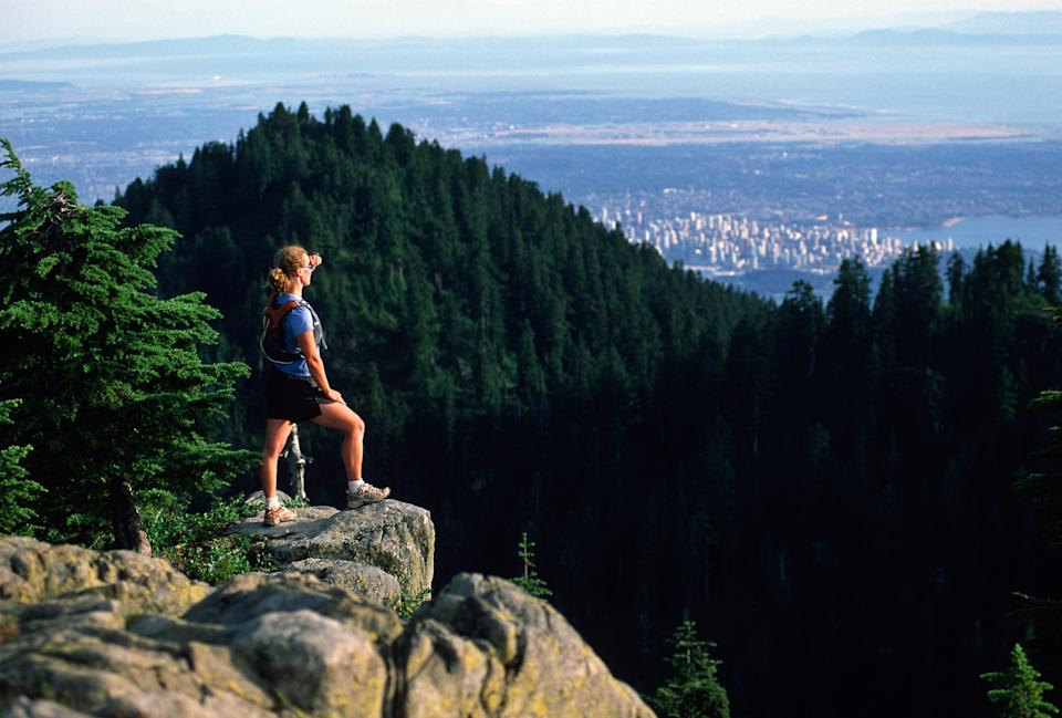 The views from Grouse Mountain are outstanding - Credit: Getty
