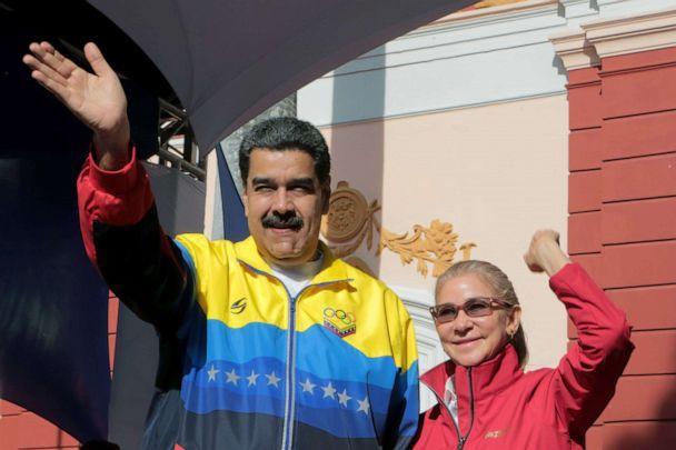 PHOTO: A photo made available by Miraflores Press Office shows President of Venezuela Nicolas Maduro greeting followers during an event in Caracas, Venezuela, Sept. 12, 2019. (Miraflores Press Office via Shutterstock)