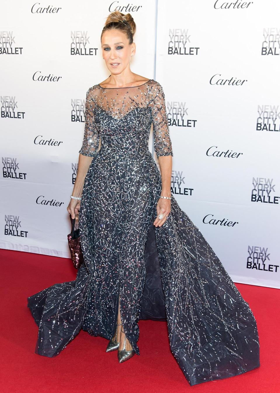 Sarah Jessica Parker in Zuhair Murad at the New York City Ballet fall gala. [Photo: Getty]