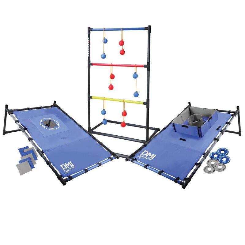 3-in-1 Tailgate Ladder Ball Set. Image via Wayfair.