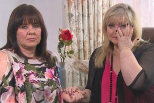 Linda was supported by Coleen as she broke down.