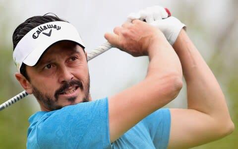 <span>Mike Lorenzo-Vera holds a one-stroke lead over Rory McIlroy</span> <span>Credit: ALI HAIDER/EPA-EFE/REX </span>