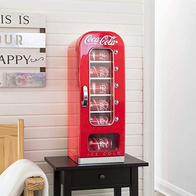 <p>Having this <span>Koolatron Thermoelectric Vending Fridge</span> ($160) would be a dream come true.</p>
