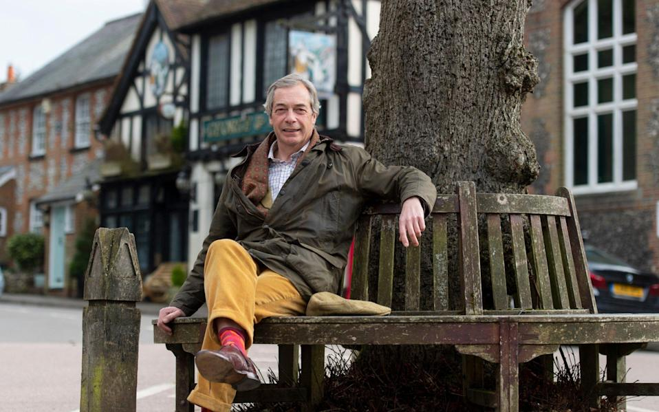 Nigel Farage, photographed on his last day as leader of Reform UK, near his home in Kent - Geoff Pugh