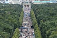 Thousands protested in Berlin against the virus curbs