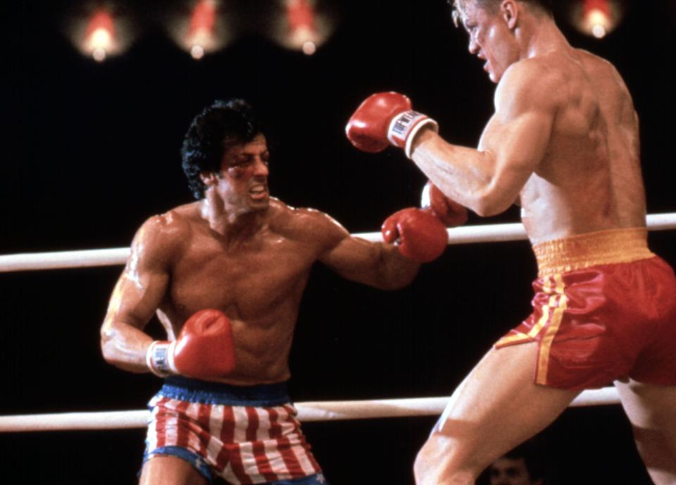 <p>Size matters: Sylvester Stallone and Dolph Lundgren in Rocky IV (1985)</p>Rex