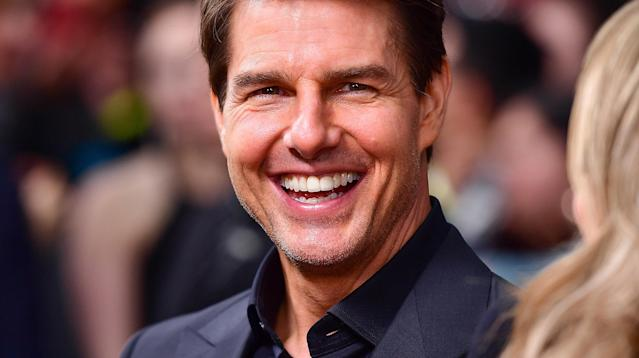 """Tom Cruise denied recent web speculation that he used a prosthetic posterior in his 2008 film """"Valkyrie."""""""
