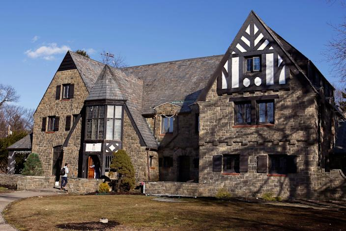 The Penn State University Kappa Delta Rho fraternity house in State College, Pennsylvania.