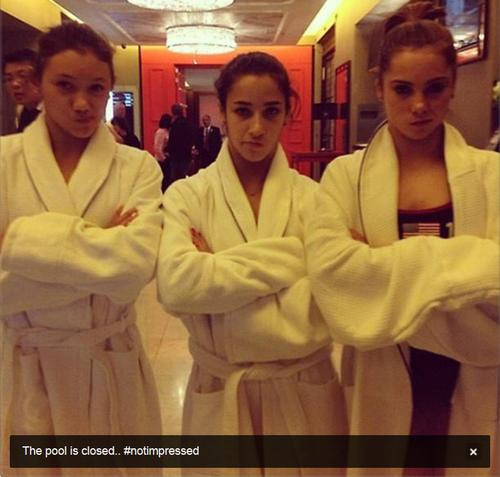 The pool is closed... #notimpressed - @McKaylaMaroney, via Twitter<br><br> We are officially impressed with McKayla Maroney's sense of humor.