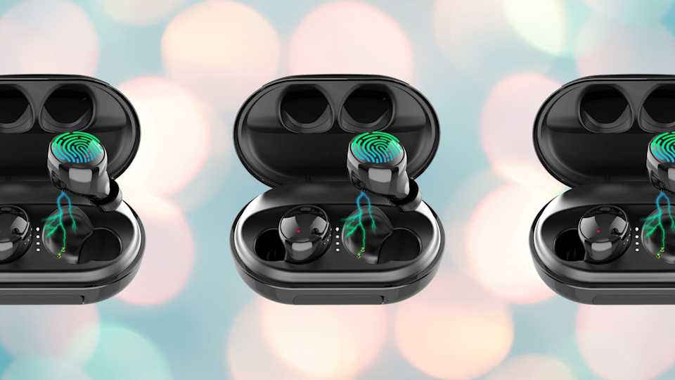 That modest-looking carrying case will keep your buds booming for 120 hours. (Photo: Amazon)