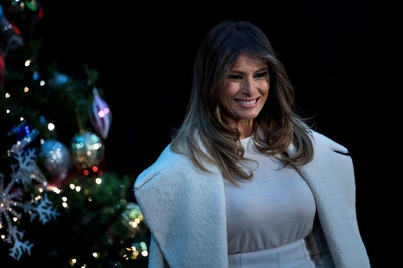 Melania Trump has revealed where she would most like to spend Christmas. Photo: Getty Images
