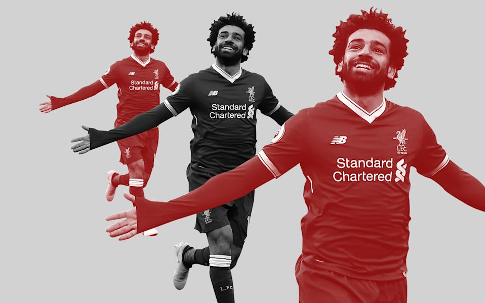 Mohamed Salah needs three goals to equal the record for goals scored in a 38-game Premier League season - Telegraph