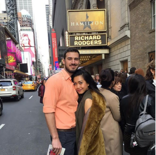 Rachelle Ann Go with her husband