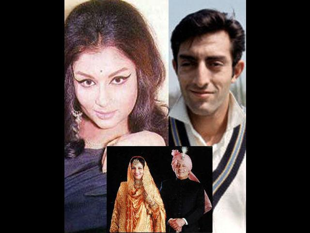 <p><strong>Sharmila Tagore-Tiger Pataudi</strong><br /><br />It is the most inspiring and glamourous romance between the two worlds. Shramila was the most talked-about diva of the tinsel town and Mansoor Ali Khan Pataudi was the youngest and the most successful test captain of India and also the Nawab of Pataudi. It was also the union of two religions- Sharmila changed her name to Ayesha Sultana to marry him. There was some opposition from family also. Many people at the time said that this marriage would not last too long, but they proved everyone wrong.</p>