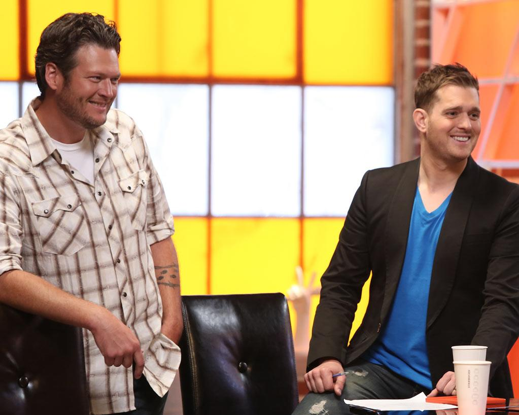 <b>Michael Buble</b> on Team Blake, Season 3