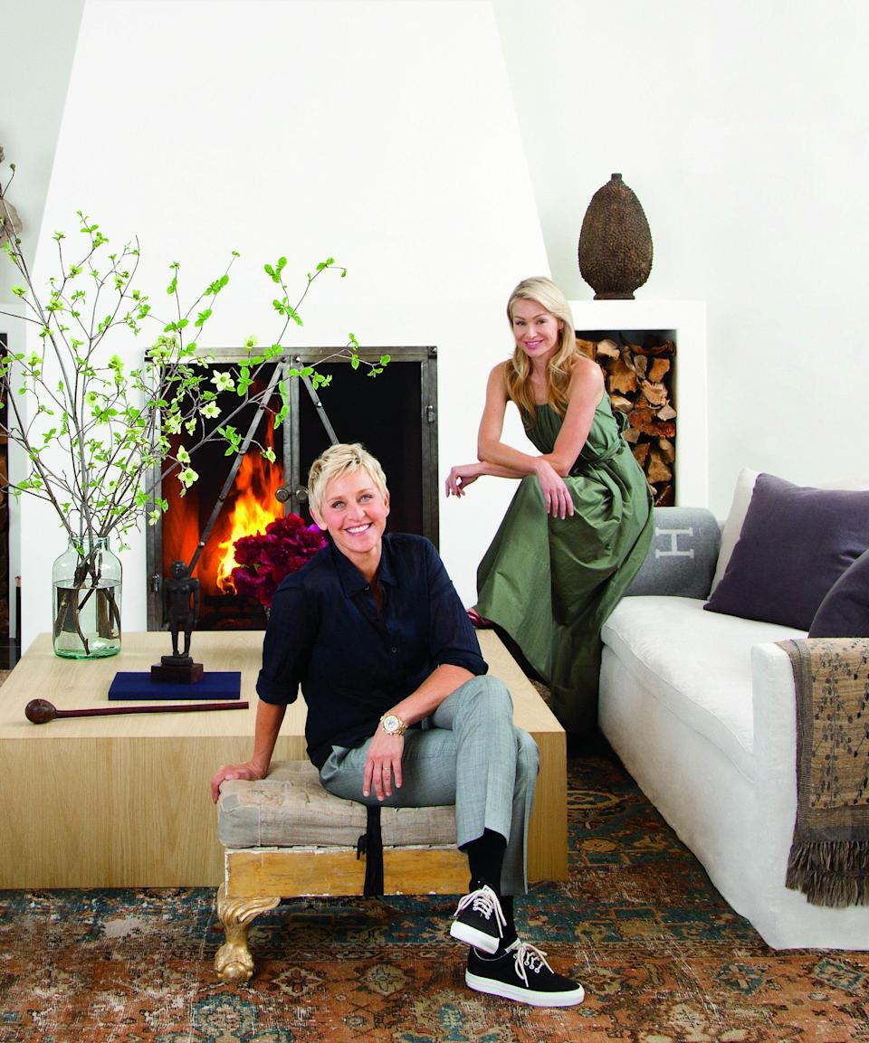 Ellen DeGeneres and Portia de Rossi a home they lived in from 2008 to 2012, which AD toured.