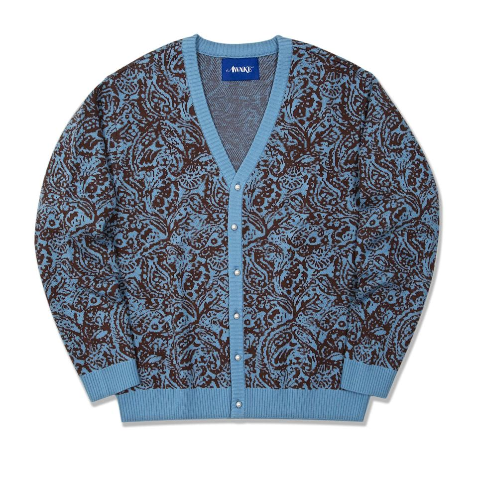 """<p><strong>Awake NY</strong></p><p>awakenyclothing.com</p><p><strong>$185.00</strong></p><p><a href=""""https://awakenyclothing.com/collections/fall-winter-2020/products/paisley-cardigan?variant=31831540498505"""" rel=""""nofollow noopener"""" target=""""_blank"""" data-ylk=""""slk:Buy"""" class=""""link rapid-noclick-resp"""">Buy</a></p>"""