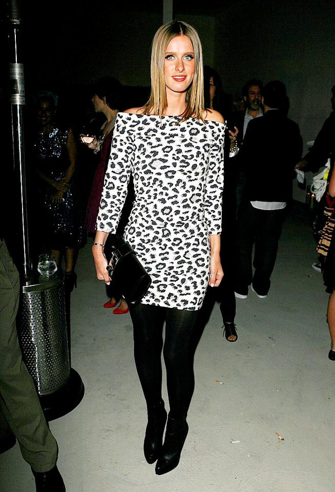 "Nicky Hilton is a wild woman in this cheetah print. Jeff Vespa/<a href=""http://www.wireimage.com"" target=""new"">WireImage.com</a> - April 23, 2009"